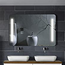 DECORAPORT 36 Inch x 28 Inch Horizontal LED Bathroom Silvered Mirror with Touch Button (B-N027)