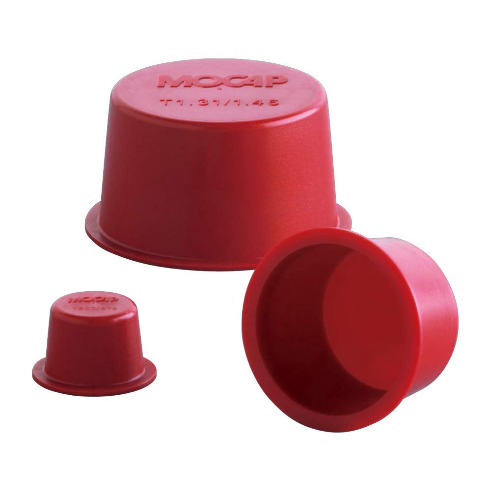 Tapered Plug Caps Tapered Cap Plug LDPE Red MOCAP T2.480/2.644RD1 (qty1000)