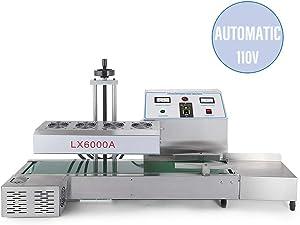 Sumeve Continuous Induction Sealer Automatic Induction Bottle Sealing Machine Bottle Cap Sealer For Cap Diameter 20mm - 80mm 110V 220V (110V)
