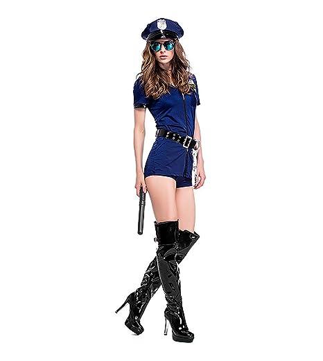 XINXIN Azul Oscuro Falda Cremallera Mujer Uniforme De Halloween ...