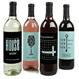 : Home Sweet Home - Wine Bottle Labels Housewarming Gift - Set of 4