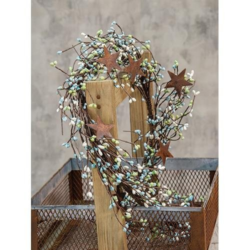 Heart of America Seabreeze Pip & Star Garland 40in.