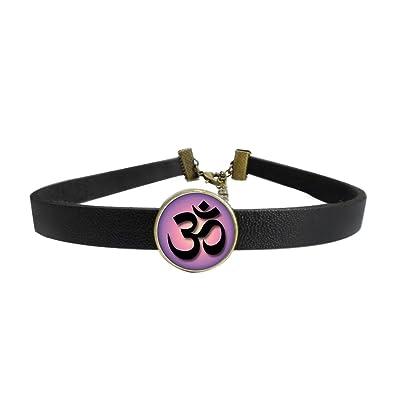 Amazon.com: WAZZIT Vintage Choker Neck Collar Yoga Om Symbol ...