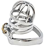 BDSM Stainless steel cock cage male chastity device virginity sex products 275 (cage with 50mm ring)