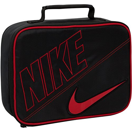 Nike Rectangular Lunch Tote (Black/Gym Red, One Size)