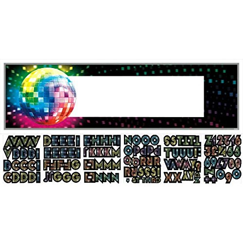 Funky 70 s Personalize It! Giant Party Sign Banner, 121 Pieces, Made from Vinyl, Any, 65
