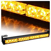 "V-SEK Auto Truck 18"" LED Traffic Advisor / Advising Emergency Vehicle Directional Warning Strobe Light Bar (Yellow/Amber)"