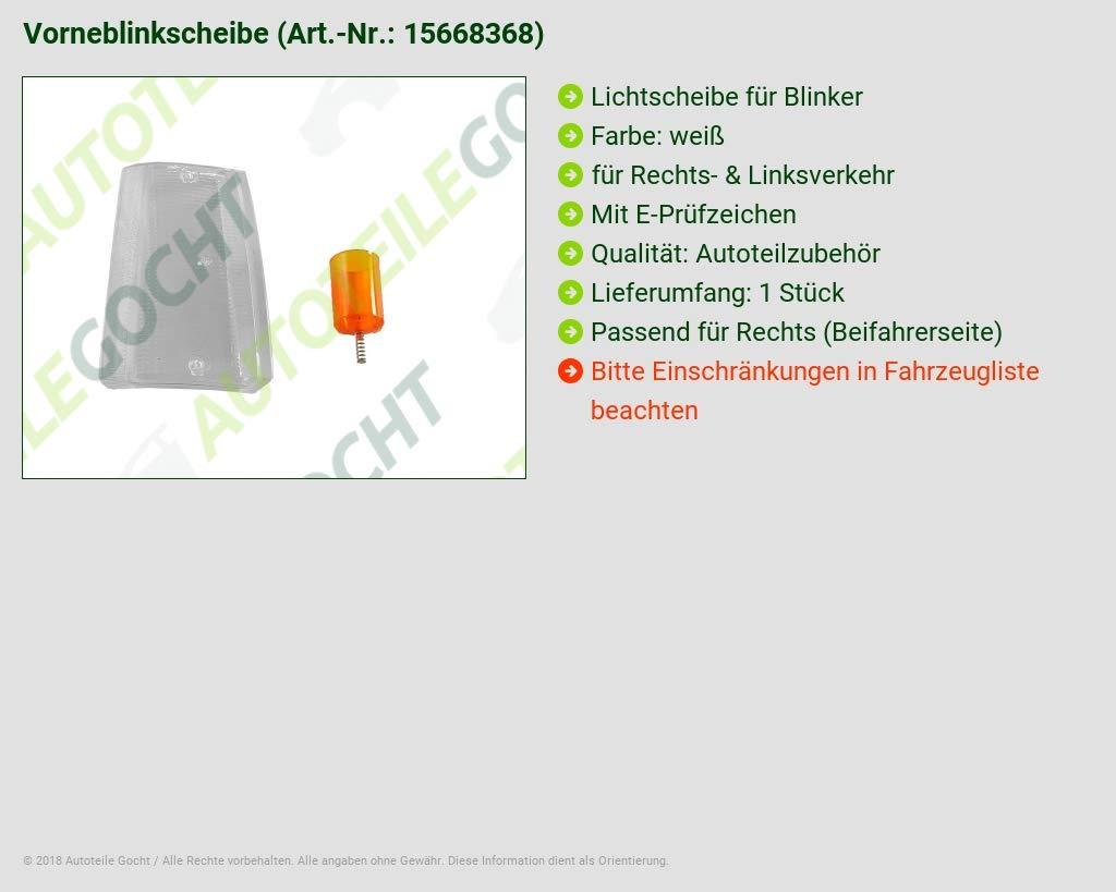 BLINKER GLAS BLINKERGLAS WEISS RECHTS VON AUTOTEILE GOCHT