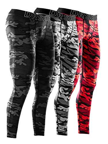 DRSKIN 3 Pack Men's Compression Pants Tights