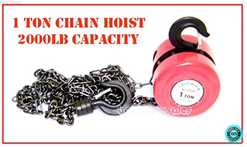 SKEMiDEX---1 Ton Heavy Duty Chain Hoist 2000LBS Lift Hoist Puller Block Hand Tool Winch NEW. Ideal for boat haulage or trailer mounting Conveniently drilled holes in base allow easy mouting (Puller Boat Hand)