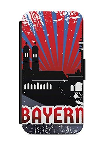 iPhone 6 6s München Bayern Flip Tasche Hülle Case Cover Schutz Handy