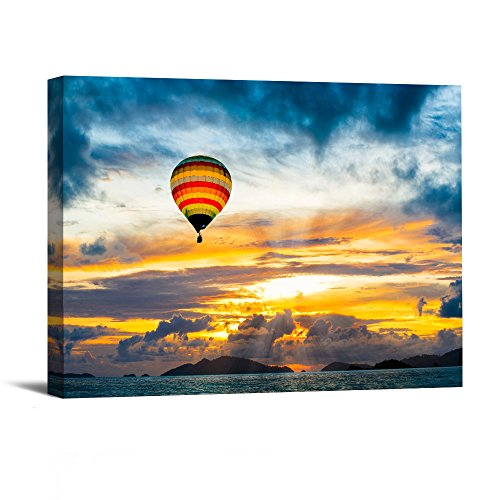 1 Piece With Framed Prints Artwork Hot Air Balloon Pictures Paintings on Canvas Wall Art for Home Decor 12