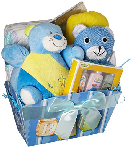 It's A Boy! Baby Gift Basket, Blue
