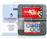 iLLumiShield - New Nintendo 3DS XL Screen Protector (2015) with HD Blue Light UV Filter and Lifetime Replacement Warranty / Premium High Definition Clear Film / Reduces Eye Fatigue and Eye Strain - Anti- Fingerprint / Anti-Bubble / Anti-Bacterial Shield - [2-Pack] Retail Packaging Compatilble with: Nintendo 3DS LL Japanese Version