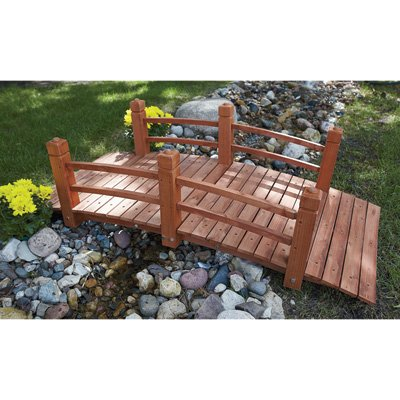 5-Ft. Long Wooden Decorative Garden Bridge by Consumer Sales Network