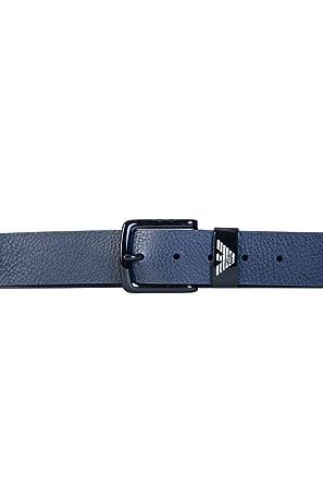 Armani Hommes ceinture en cuir texturé Bleu  Amazon.fr  Vêtements et  accessoires 2e77842b30d
