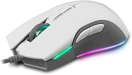 Newskill EOS Ivory Raton Gaming Profesional con Iluminación RGB, 16000 dpi y Sensor Óptico Pixart PMW 3360 - Color Blanco