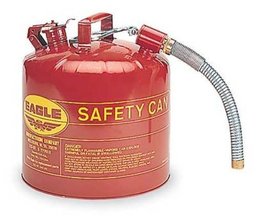 Eagle U2-51-S Red Galvanized Steel Type II Gas Safety Can with 7/8'' Flex Spout, 5 gallon Capacity, 13.5'' Height, 12.5'' Diameter Garden, Lawn, Supply, Maintenance by HOME-APP