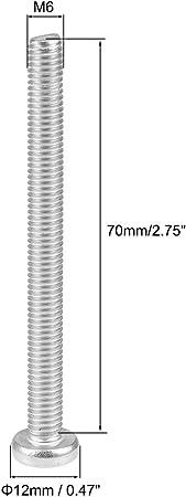 sourcingmap M6 x 70mm en acier alli/é Grade 12,9 Vis /à t/ête hexagonale /à t/ête /à six pans creux 10Pcs