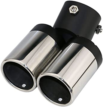 """Stainless Steel Exhaust Tip 3/"""" Inlet 3.4/"""" Outlet 6.3/"""" Long Silver"""