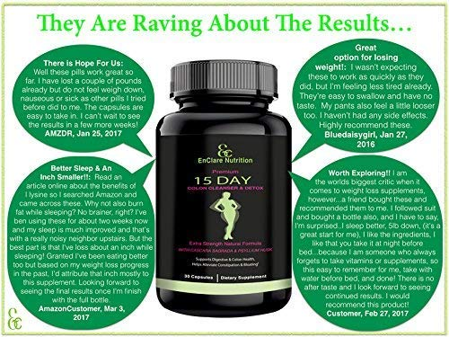 Detox and Colon Cleanse for Weight Loss, Reduce Belly  Extra Strength Diet  Pills with Natural Laxatives, Fiber, Acidophilus, Promotes Healthy Bacteria
