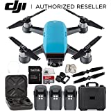 DJI Spark Portable Mini Drone Quadcopter Water Proof Hard Case Ultimate Bundle (Sky Blue)