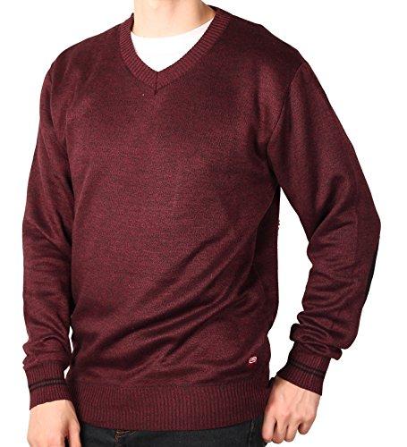 Ecko Unltd. Young Men's Marled V-Neck Sweater, Burgandy, Size - Sweater V-neck Marled
