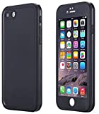 iPhone Se Waterproof Case, Super Slim Thin Light [360 All Round Protective] Full-Sealed IPX-6 Waterproof Shockproof Dust/Snow Proof Case Cover for iPhone Se/5s/ 5 (Black)
