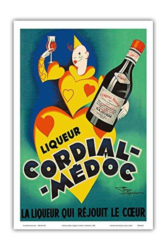Cordial Médoc Liqueur - The Liquor Which Rejoices The Heart - Bordeaux, France - Vintage Advertising Poster by Henri Le Monnier c.1930 - Master Art Print - 12in x 18in ()