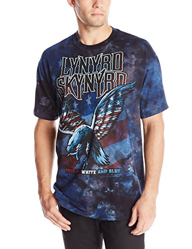 Liquid Blue Men's Lynyrd Skynyrd True Red White and Blue T-Shirt, Multi, Medium