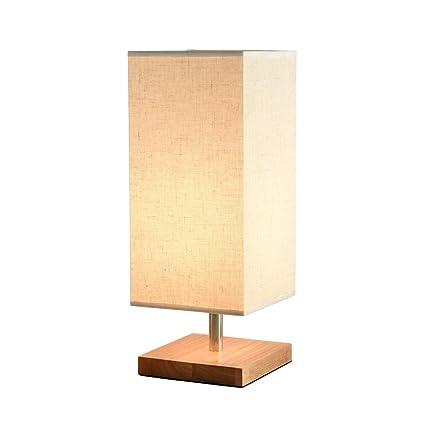 LIZHIQIANG Lámpara De Mesa, Lámpara De Sobremesa De Madera Maciza Lámpara De Mesa De Noche