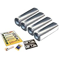 GTMAT Automotive Sound Dampener 80mil Ultra Door Kit - Sound Deadening Installation Kit Includes: 12sqft Roll (4 Rolls - 12 x 36), Instruction Sheet, Application Roller, Degreaser, GT MAT Decals
