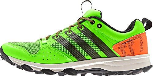 Adidas Outdoor Kanadia 7 Trail Running Sneaker Shoe - Umber/Negro/Blue - Mens - 8 Solar Green/Black/Solar Orange