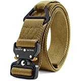 Fairwin Tactical Rigger Belt, Nylon Webbing Waist Belt with V-Ring Heavy-Duty Quick-Release Buckle (Brown, S(Waist 30''-36''Width 1.5''))