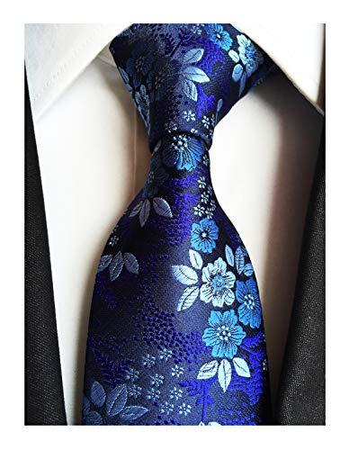 - Men's Boys Silk Navy Blue Tie Paisley Pattern 3.15