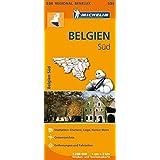 Michelin Belgien Süd: Straßen- und Tourismuskarte 1:200.000 (MICHELIN Regionalkarten)