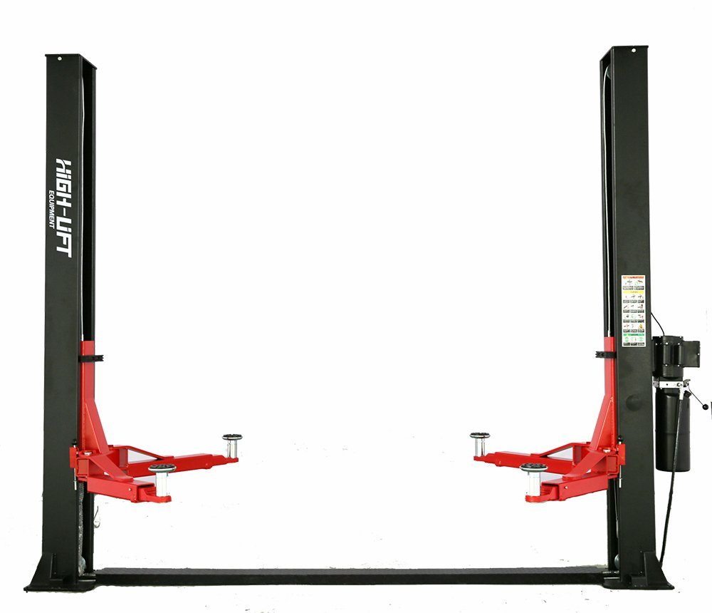 10000 LBS 2 Post Base Plate Car Truck Auto Vehicle Lift Two Post Lift Hoist 220V 60HZ 1PH 3HP