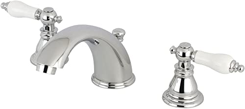 Kingston Brass KB961APL American Patriot 8-Inch Widespread Lavatory Faucet with Retail Pop-Up, 5-3 4 , Polished Chrome