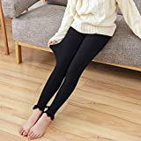 Girls Ruffle Footless Tights Knit Ankle Length