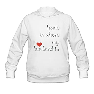 c33faef258cd Image Unavailable. Image not available for. Color  Zeng Home Is Where My  Husband Is Women s Lightweight Hooded Sweatshirt Adult Long Sleeve Casual  Pullover
