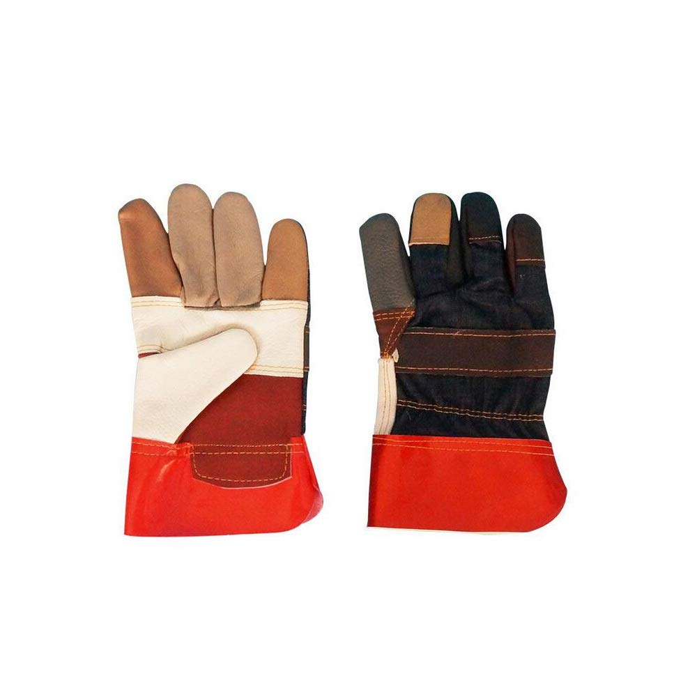 MINRUIGONGMAO 12 Set Welding Gloves,Leather Forge Welding Gloves, Mitts For Oven,Grill/Fireplace/Furnace/Stove/Pot Holder/Tig Welder/Mig/BBQ/Animal Handling Glove-22cm Work safety gloves