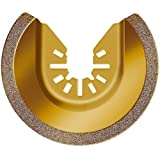 LBK Carbide Grit Semicircle Blade,compatible with Rockwell RW8946 Sonicrafter 3-1/8-inch