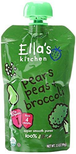Ella's Kitchen the Pea + Broccoli One, Stage 1, 3.5 oz by Ella's Kitchen
