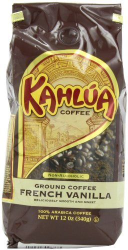 White Coffee Kahlua French Vanilla Gourmet Ground Coffee, 12-Ounce Bags (Pack of 2) by White House Coffee