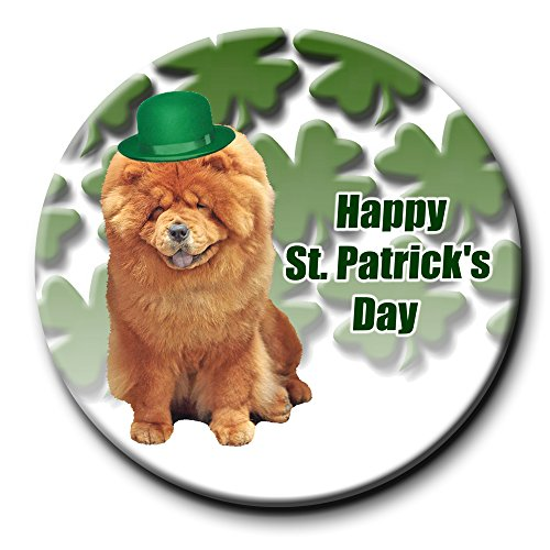 Chow Chow St Patrick's Pin Badge Button