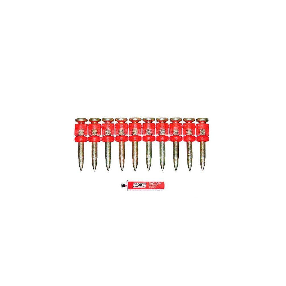 Lot de 1000 clous xtra-hard avec gaz sé rie TI-700 D=3.0mm L=27mm ALSAFIX PO55127