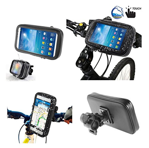 Price comparison product image DFV mobile - Professional Support for Bicycle Handlebar and Rotatable Waterproof Motorcycle 360º for => SONY XPERIA XZ1-COMPACT LTE (SONY PF41) > Black