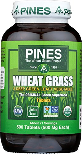 Pines Organic Wheat Grass, 500 Count Tablets (Wheat Powder Grass Pines)