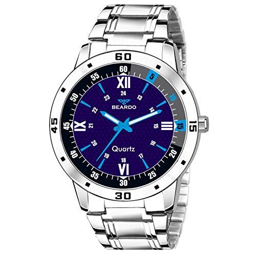 BEARDO Sports Design Adjustable Length Blue Dial Analog Watch (Blue)