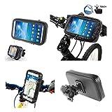 DFV mobile - Support Professionnel pour le Guidon de Bicyclette et la Moto Imperméable Rotative 360 º pour => BLU NEO XL, N110L > Noir